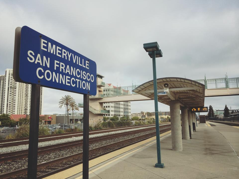 Emeryville Amtrak train San Francisco Chicago