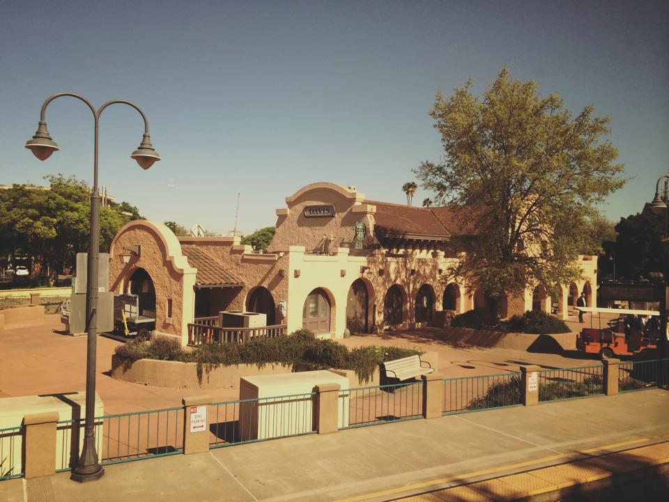 UC Davis train stop
