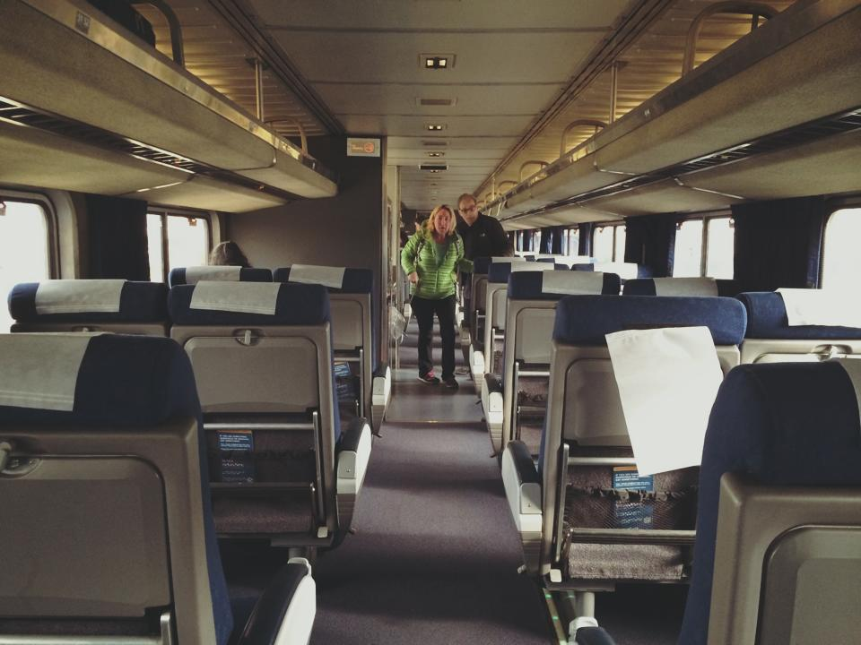Amtrak singles car