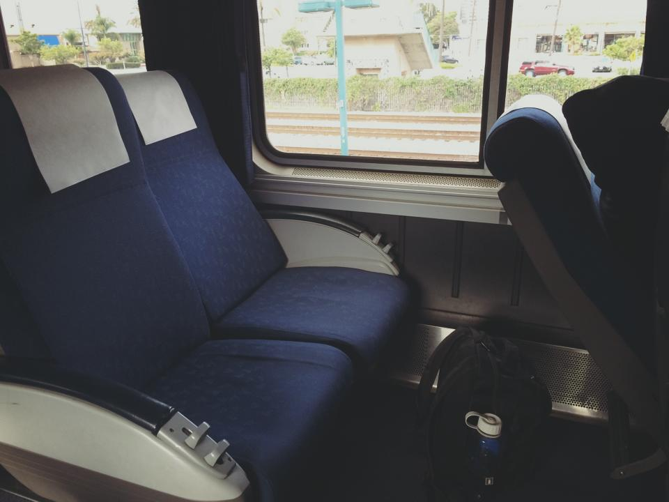 California Zephyr train seats