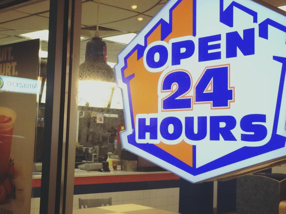go white castle 24 hours