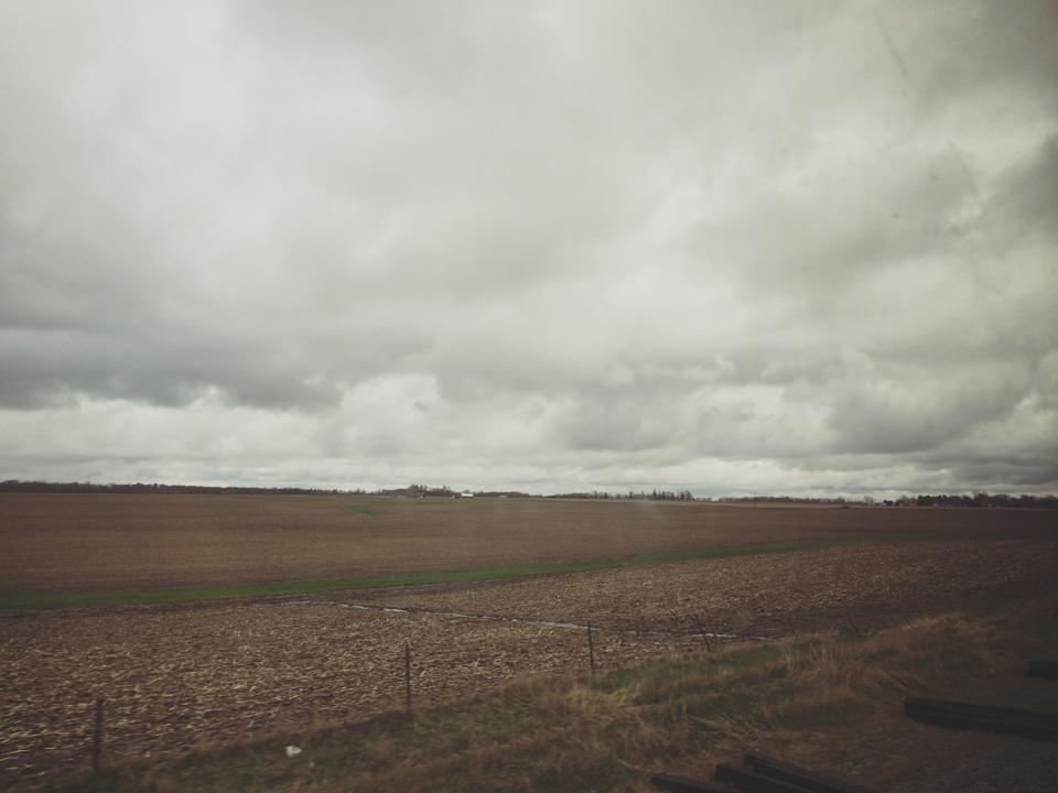 54 hour train ride across USA farmland