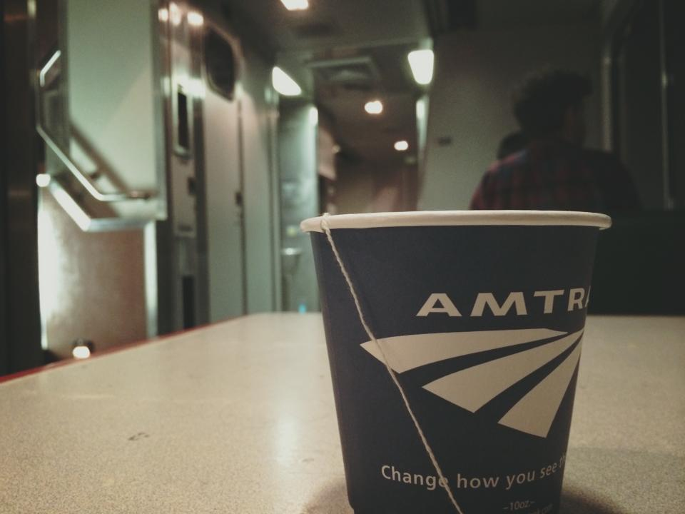 amtrak across usa train cafe
