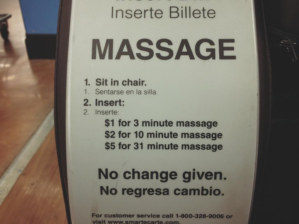 unbelievable late night five dollar walmart massage