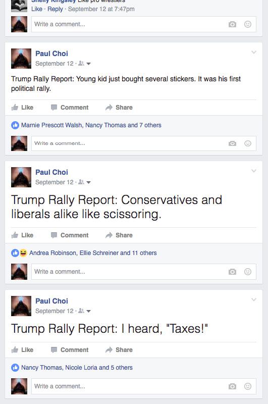 trump rally report