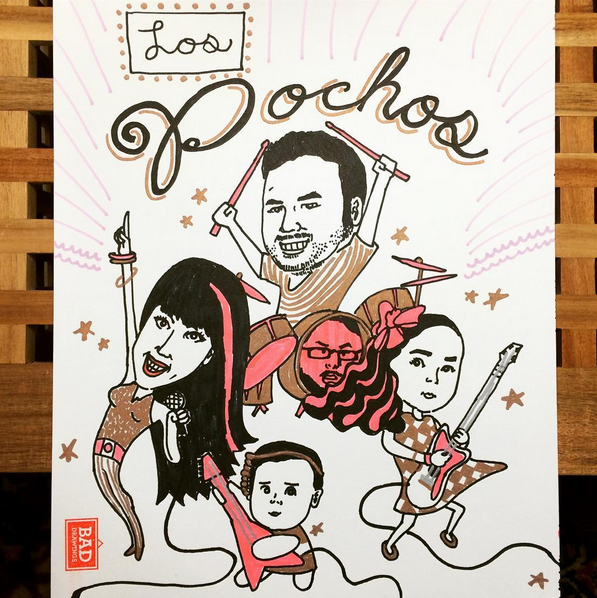 Bad Drawings Los Pochos Family Rock Band